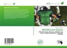 Обложка 2003 BC Lions Season