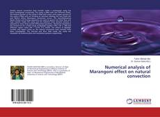 Portada del libro de Numerical analysis of Marangoni effect on natural convection