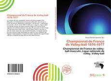 Bookcover of Championnat de France de Volley-ball 1976-1977