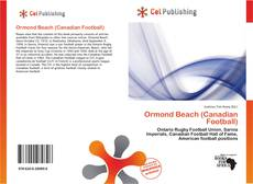 Buchcover von Ormond Beach (Canadian Football)