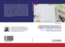 Обложка A Need Based Approach to English Language Teaching