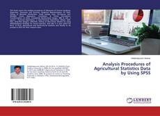 Portada del libro de Analysis Procedures of Agricultural Statistics Data by Using SPSS