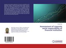 Bookcover of Assessement of coporate social responsibility of financial institution