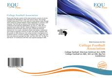 Bookcover of College Football Association