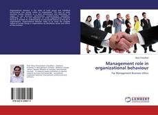 Buchcover von Management role in organizational behaviour