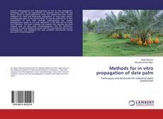 Buchcover von Methods for in vitro propagation of date palm