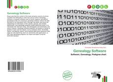 Capa do livro de Genealogy Software