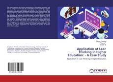 Copertina di Application of Lean Thinking in Higher Education: - A Case Study