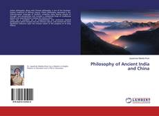 Couverture de Philosophy of Ancient India and China