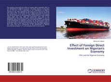 Bookcover of Effect of Foreign Direct Investment on Nigerian's Economy