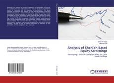 Bookcover of Analysis of Shari'ah Based Equity Screenings