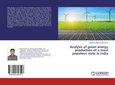 Portada del libro de Analysis of green energy production of a most populous state in India