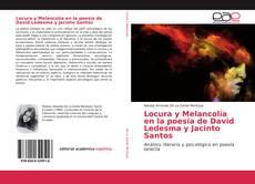 Capa do livro de Locura y Melancolía en la poesía de David Ledesma y Jacinto Santos