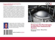 Обложка Programa De Psicoterapia Grupal Para Violencia De Genero