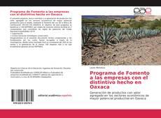 Borítókép a  Programa de Fomento a las empresas con el distintivo hecho en Oaxaca - hoz