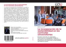La incorporación de la sostenibilidad en los currículos universitarios的封面