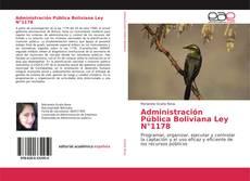 Capa do livro de Administración Pública Boliviana Ley N°1178