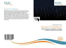 Bookcover of System X (Telephony)