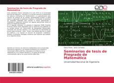 Portada del libro de Seminarios de tesis de Pregrado de Matemática