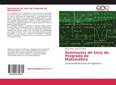 Bookcover of Seminarios de tesis de Pregrado de Matemática