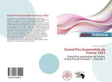 Grand Prix Automobile de France 1923的封面