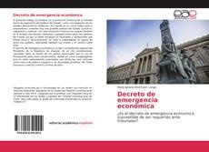Обложка Decreto de emergencia económica