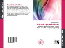 Capa do livro de Maple Ridge Wind Farm
