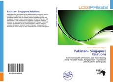 Bookcover of Pakistan– Singapore Relations