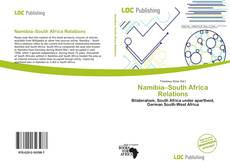 Bookcover of Namibia–South Africa Relations