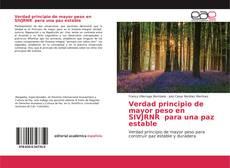 Verdad principio de mayor peso en SIVJRNR para una paz estable kitap kapağı