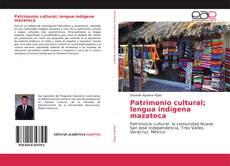 Portada del libro de Patrimonio cultural; lengua indígena mazateca