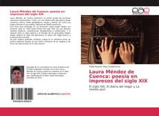Portada del libro de Laura Méndez de Cuenca: poesía en impresos del siglo XIX