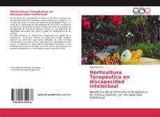 Portada del libro de Horticultura Terapéutica en discapacidad intelectual
