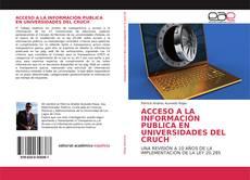 Bookcover of ACCESO A LA INFORMACIÓN PUBLICA EN UNIVERSIDADES DEL CRUCH