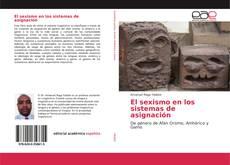 Bookcover of El sexismo en los sistemas de asignación