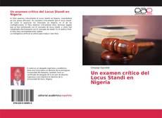 Capa do livro de Un examen crítico del Locus Standi en Nigeria