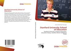 Bookcover of Stanford University School of Education