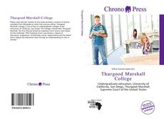 Bookcover of Thurgood Marshall College