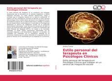 Buchcover von Estilo personal del terapeuta en Psicólogos Clínicos