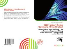 Capa do livro de 200th Military Police Command (United States)
