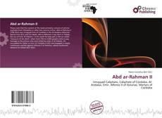 Capa do livro de Abd ar-Rahman II