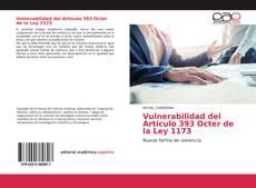 Bookcover of Vulnerabilidad del Artículo 393 Octer de la Ley 1173