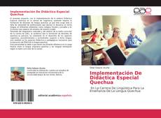 Portada del libro de Implementación De Didáctica Especial Quechua