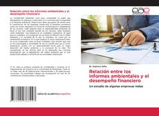 Bookcover of Relación entre los informes ambientales y el desempeño financiero