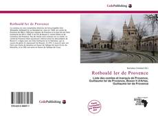 Rotboald Ier de Provence kitap kapağı