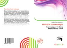 Bookcover of Fonction Informatique