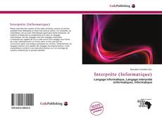 Portada del libro de Interprète (Informatique)