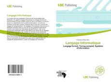 Bookcover of Langage Informatique