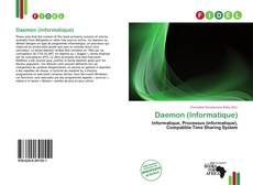 Capa do livro de Daemon (Informatique)