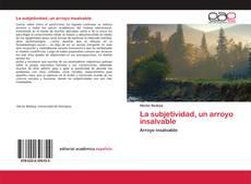 Buchcover von La subjetividad, un arroyo insalvable